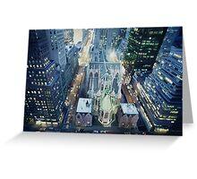 """New York Nightlights"" Watercolor Greeting Card"