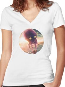 Octopus Riders Women's Fitted V-Neck T-Shirt