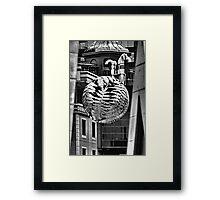 steel fern. wellington, aotearoa Framed Print