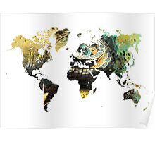 Map of the world time  Poster