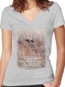 Isaiah 40:31 Women's Fitted V-Neck T-Shirt