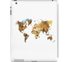 Map of the world house living iPad Case/Skin
