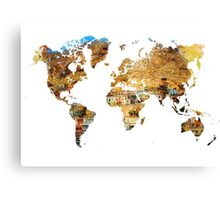 Map of the world house living Canvas Print