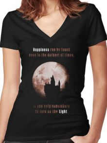 Harry potter: Happiness Women's Fitted V-Neck T-Shirt