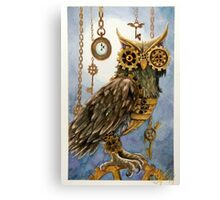 Clockwork Owl 2 Canvas Print