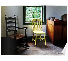 Two Chairs in Kitchen Poster
