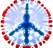 Tie Dye Peace Sign by iloveamerica
