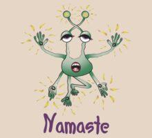 Namaste Space Yoga Dude by thirdeyestudio