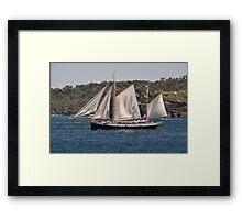 """Tecla"", Tall Ships Departure, Manly, Australia 2013 Framed Print"