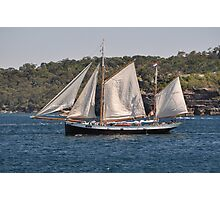 """Tecla"", Tall Ships Departure, Manly, Australia 2013 Photographic Print"