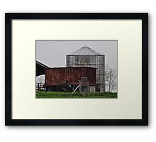 Silo and Rusty Truck Trailer Framed Print