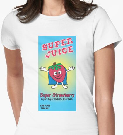 Super Juice Strawberry Juice Drink Womens Fitted T-Shirt