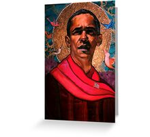 Saint Obama Greeting Card