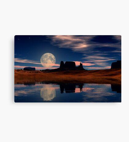 Harvest Moon Rising Canvas Print