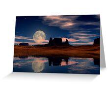 Harvest Moon Rising Greeting Card