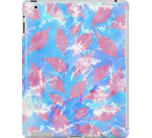 Whimsical Watercolor Leaves in Pink and Blue iPad Case/Skin