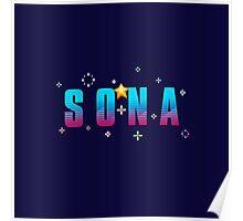League of Legends: Sona Arcade Poster