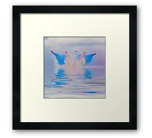 Break In The Clouds Flood Filter - The Red Arrows - Dunsfold 2014 Framed Print