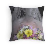 The Beautiful Bride Throw Pillow