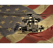 Off to War (American Flag) Photographic Print