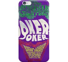 Batman - Joker - Typography iPhone Case/Skin