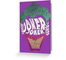 Batman - Joker - Typography Greeting Card