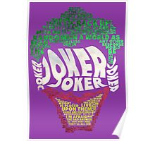 Batman - Joker - Typography Poster