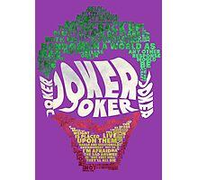 Batman - Joker - Typography Photographic Print