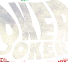 Batman - Joker - Typography Sticker