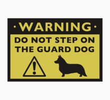 Cardigan Welsh Corgi Humorous Guard Dog Warning by Jenn Inashvili