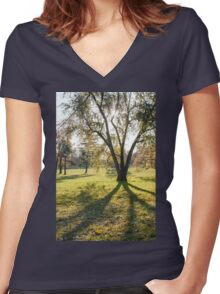 tree huge branches Women's Fitted V-Neck T-Shirt