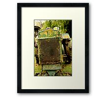 can i cut your grass? Framed Print