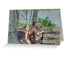 Muzzle Loader Greeting Card
