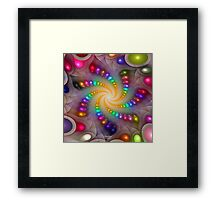 'Light Flame Abstract 288a' Framed Print