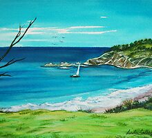 Beach View. Seals Rocks, Australia by Linda Callaghan