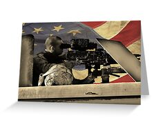 Protect and Defend (American Flag) Greeting Card