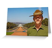 Anzac - Anzac Parade to Parliment House Greeting Card