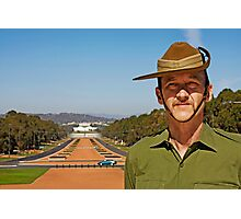 Anzac - Anzac Parade to Parliment House Photographic Print
