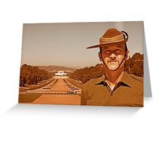 Anzac - Anzac Parade to Parliment House a Greeting Card
