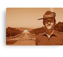 Anzac - Anzac Parade to Parliment House b Canvas Print