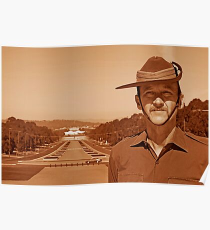 Anzac - Anzac Parade to Parliment House b Poster