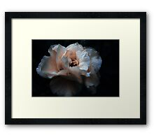 Existing In The Rain ⦿ Blue Water And Orange Flower Framed Print