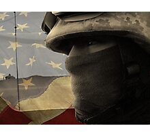 Face of War (American Flag) Photographic Print
