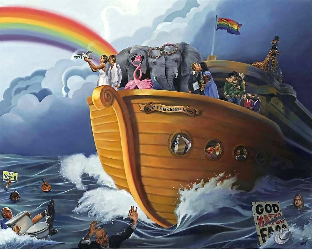 NOAH'S GAY WEDDING CRUISE, oil painting by Paul Richmond by Paul Richmond