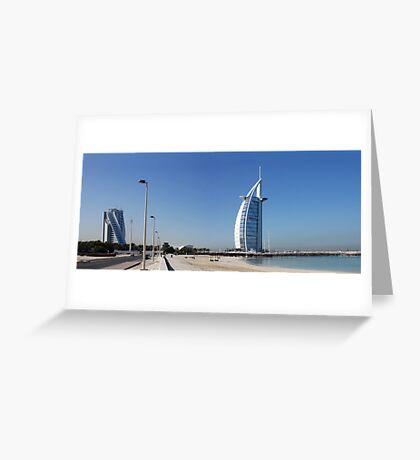 Burj Al Arab, Jumeirah-Beach, Dubai Greeting Card