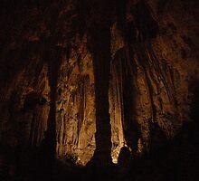 Greek pillars underground by BellaStarr