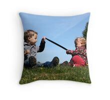 Give ME back my Tail!!! Throw Pillow
