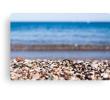 close up of a rocky beach  Canvas Print