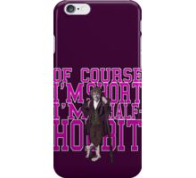Of COURSE I'm Short- I'M HALF HOBBIT (Purple) iPhone Case/Skin