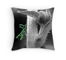 The Deadly Mantis Throw Pillow